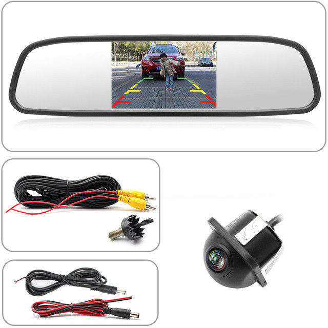 Night Vision Car Backup Camera Mirror 5'' Display Size Color CCD 7070 Image Device