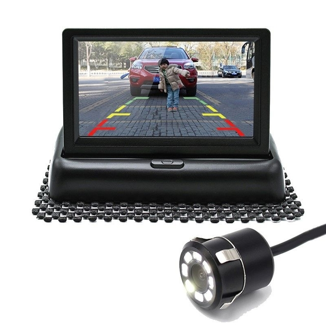 4.3 inch LCD TFT Car  Floding Monitor with HD Waterproof Reversing Car Camera